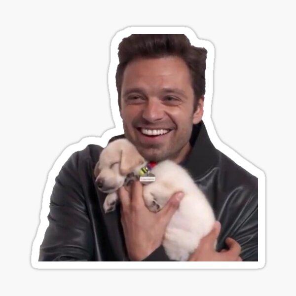 Sebastian + Puppy Sticker