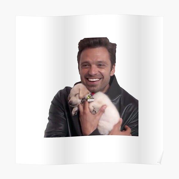 Sebastian + Puppy Poster