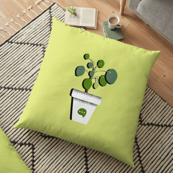 Shaky Plants [Pilea] Floor Pillow
