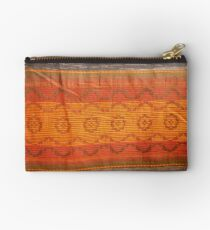 closeup pattern texture of general traditional textile style native from fabric  Studio Pouch