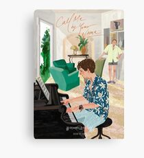 Call Me By Your Name Drawing - Elio playing the Piano Canvas Print
