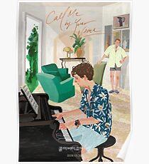 Ruf mich mit deinem Namen an Zeichnung - Elio spielt Klavier Poster