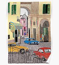 Ruf mich bei deinem Namen an Zeichnung - Elio & Oliver - Crema Poster
