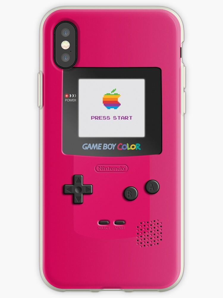 Nintendo Game Boy Color Berry (Red) Iphone case by RicardoTito