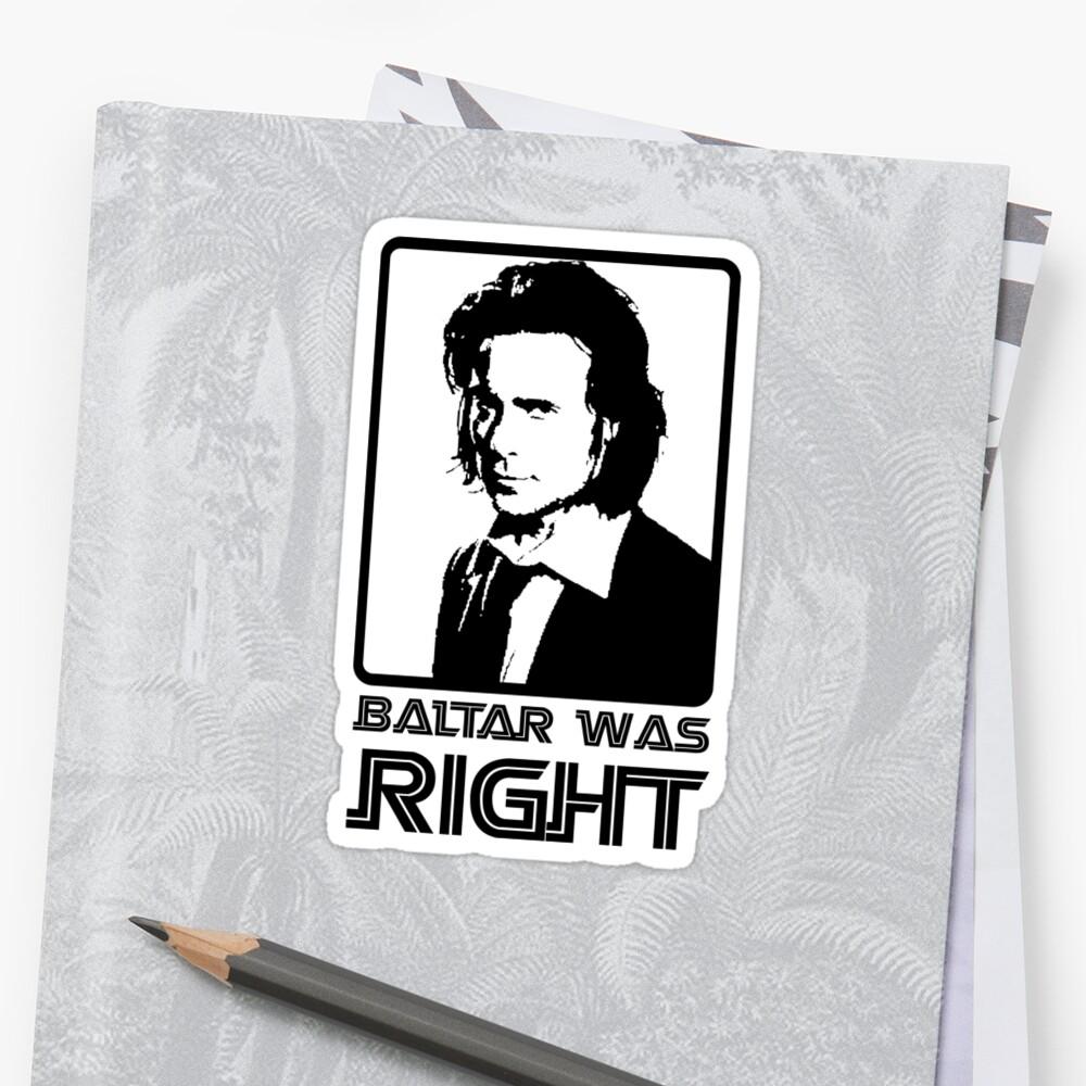 Baltar Was Right by Gavin Bailey