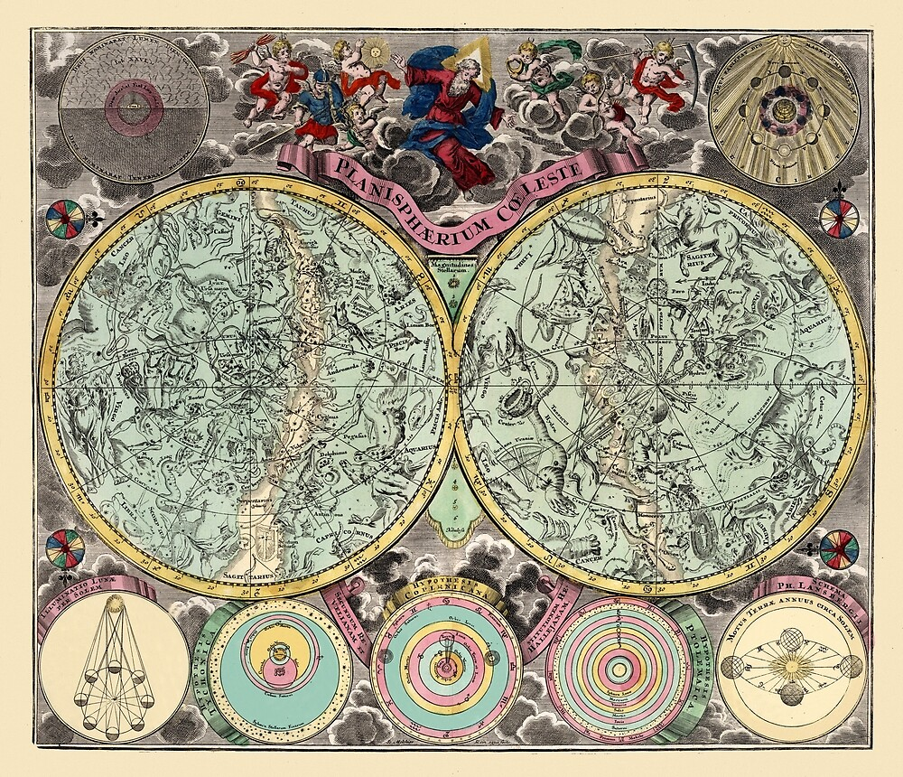 Celestial Map 1730b by mollyfare