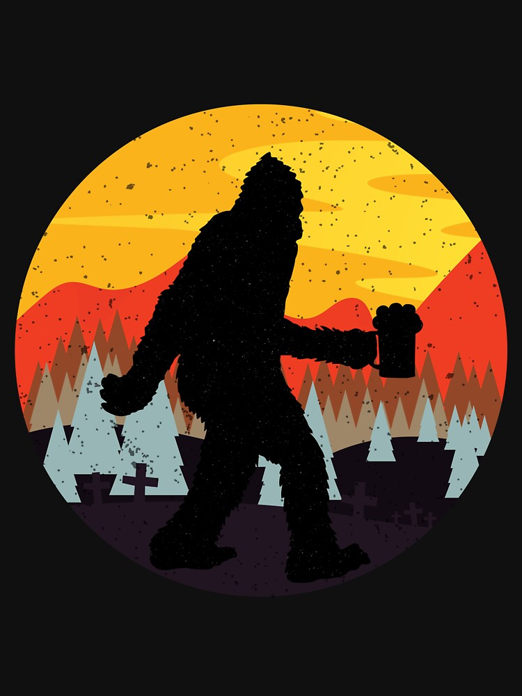 Bigfoot Halloween T-Shirt Funny Beer Shirt by EvolMissing