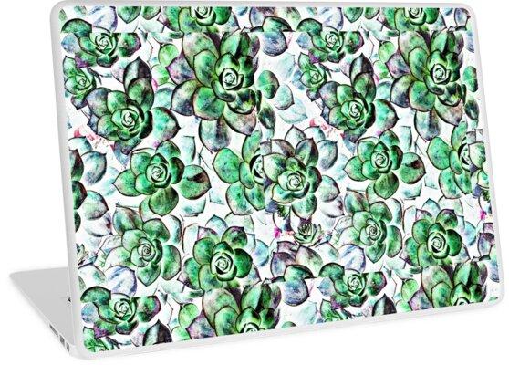 Watercolor succulents  by NeverNanashi