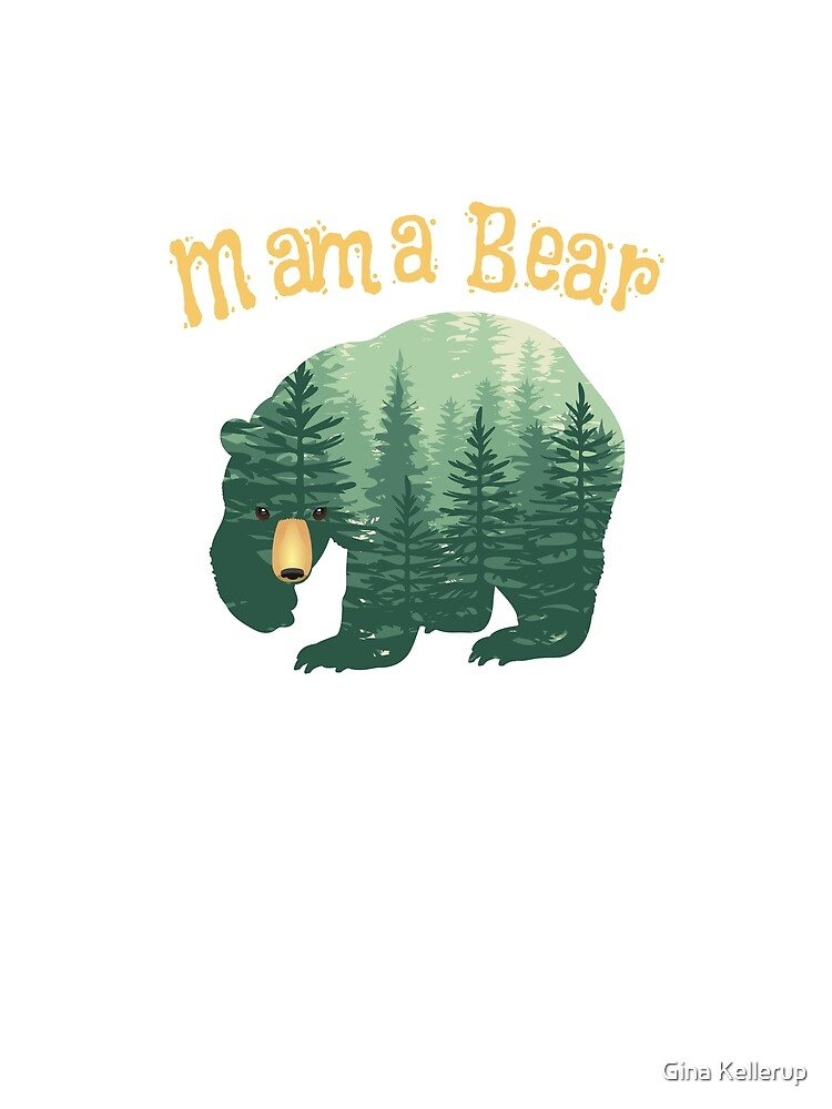 Family Mama Bear Forest for Mom Mother Mommy by KanigMarketplac