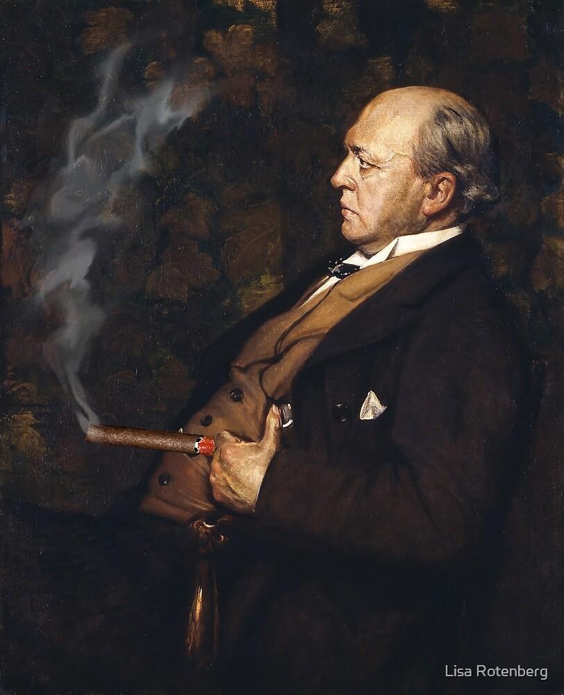 Cigar Smoker American History Art Portrait by Lisa Rotenberg