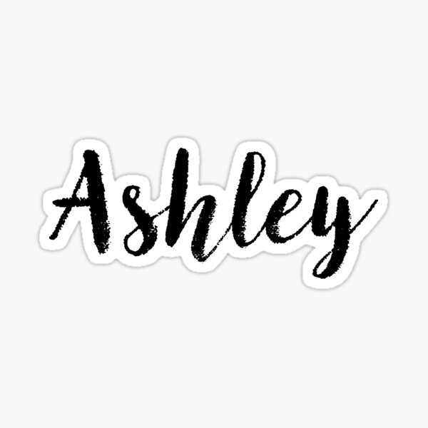 Ashley - Nombre Pegatinas Tees Cumpleaños Pegatina