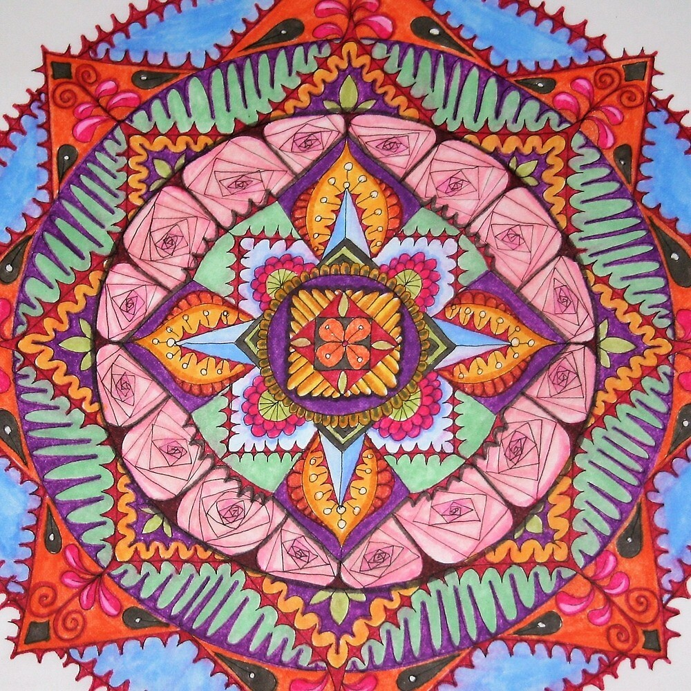Desert Rose Mandala by jjupin