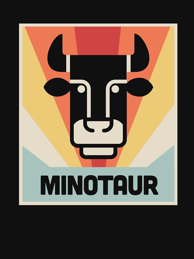 Vintage Greek Mythology Minotaur by EMDdesign