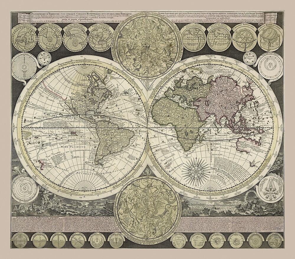Celestial Map 1710 by mollyfare