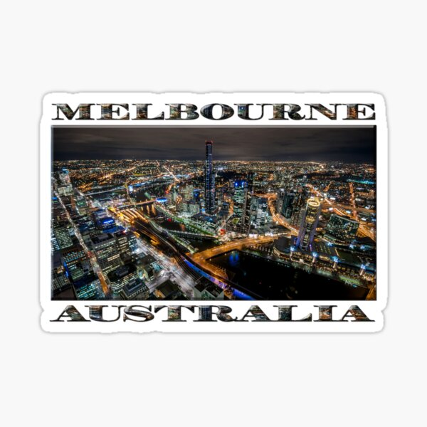 City Lights (widescreen poster on white) Sticker