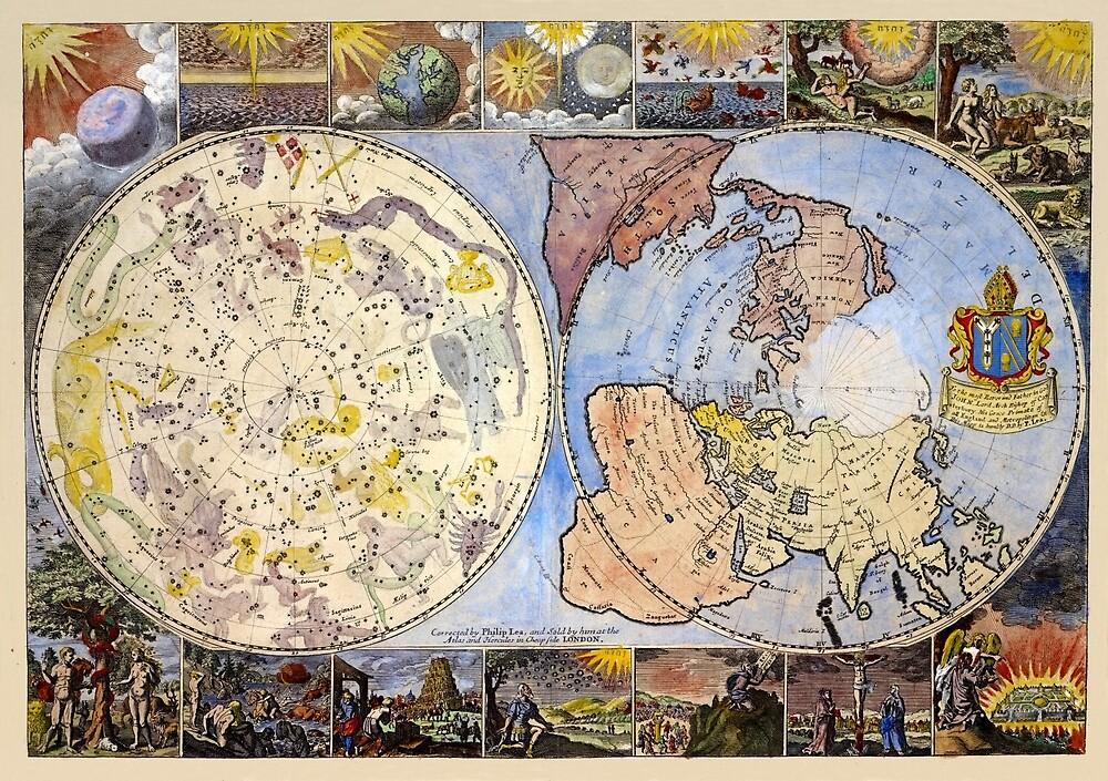 Vintage Celestial Map 1699 by mollyfare