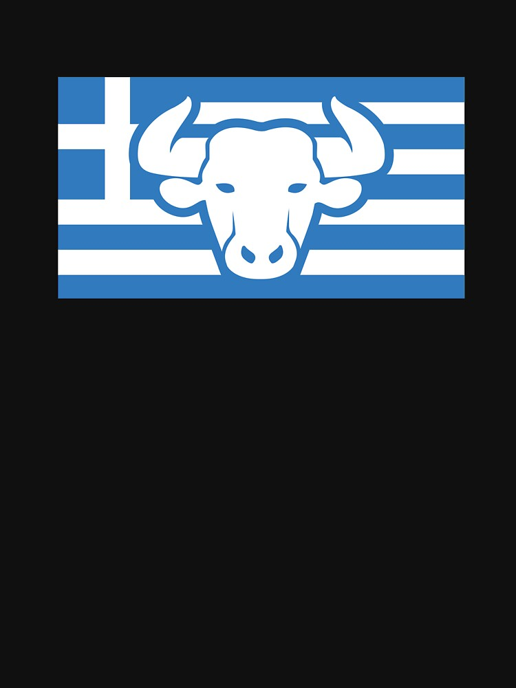 Greek Flag - Mythology Minotaur by EMDdesign