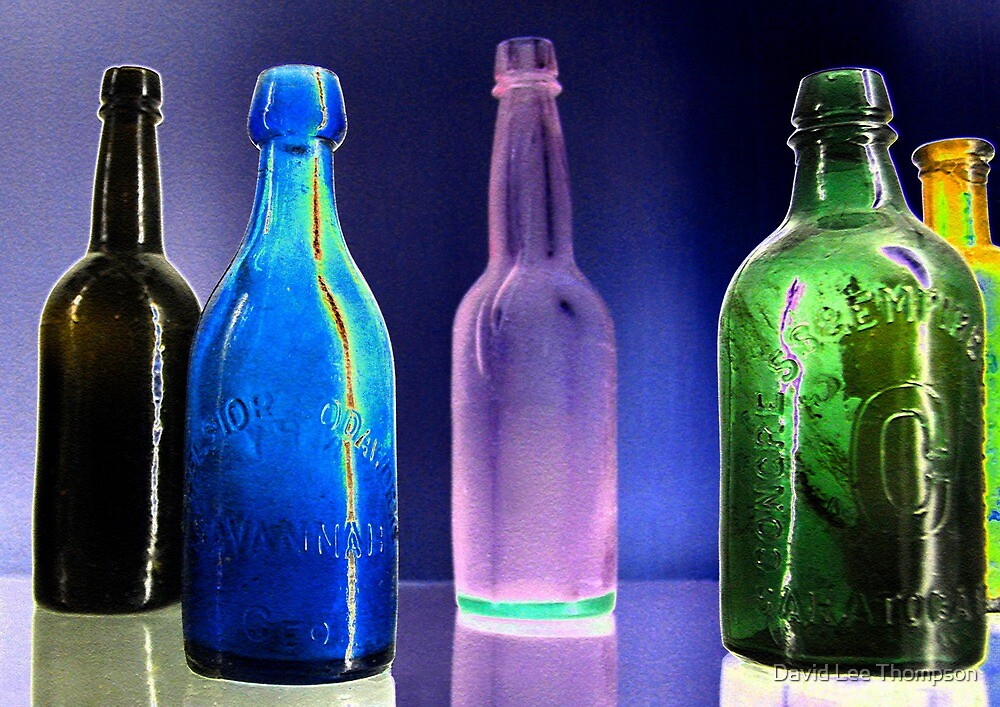 Bottles work A by David Lee Thompson