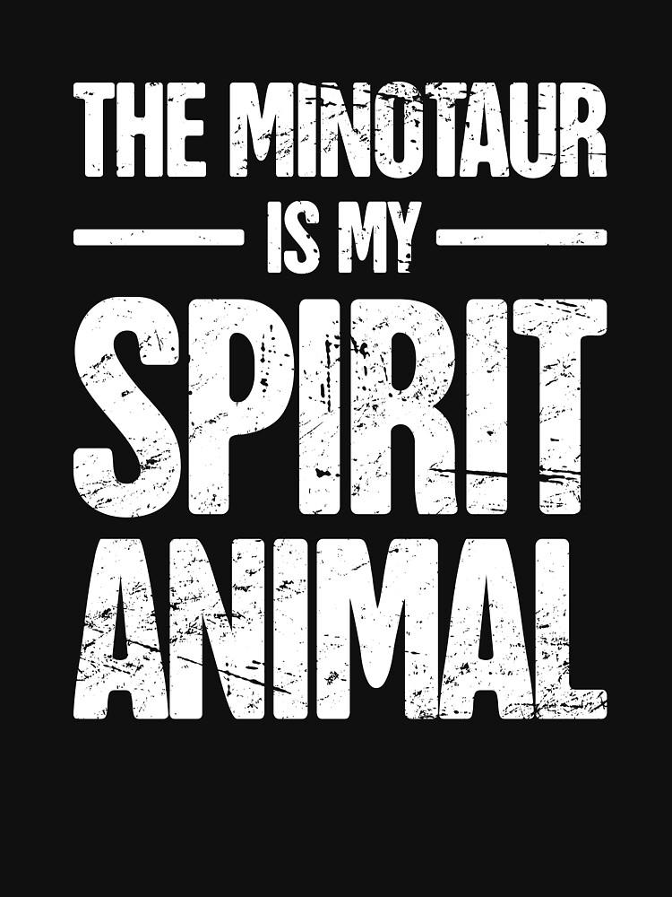 Spirit Animal Greek Mythology Minotaur by EMDdesign
