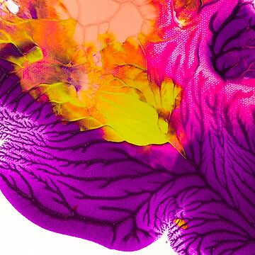 Abstract Painting  -  Purple Pinks And Chartreuse  by ilzesgimene