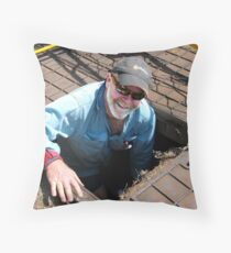 In a Hole... at Work? Throw Pillow