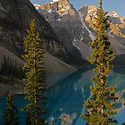 Magic on  Moraine Lake - Canada by Barbara Burkhardt
