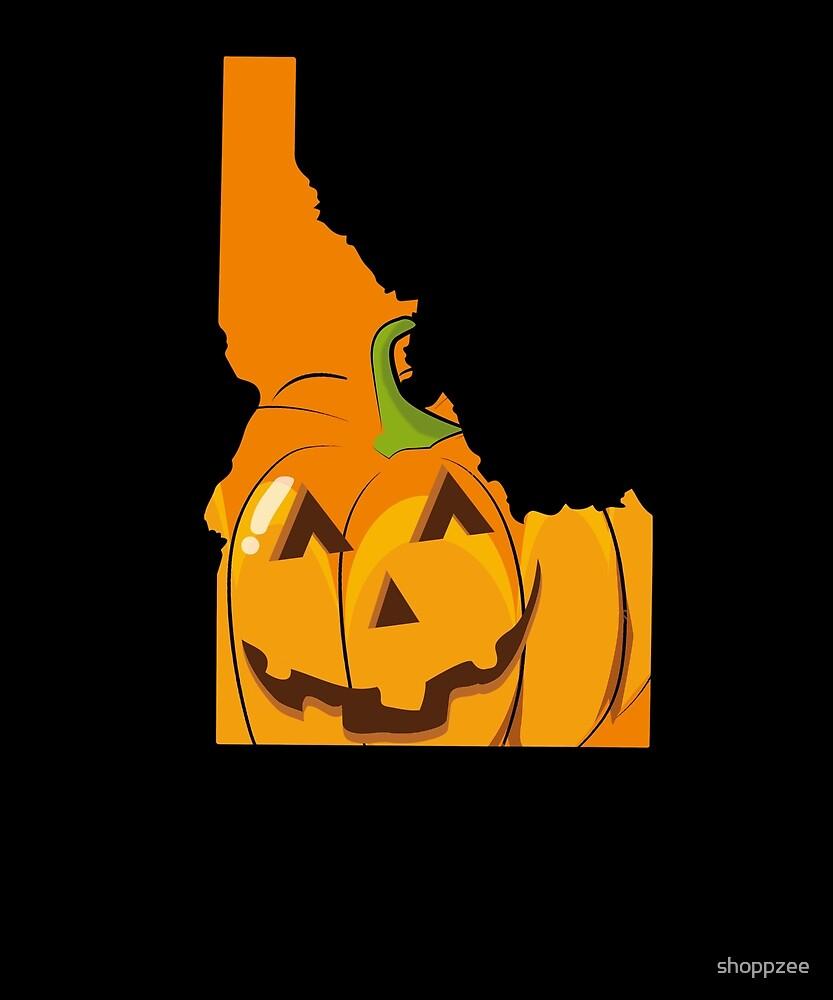 Halloween Cute Idaho Halloween Tshirt by shoppzee
