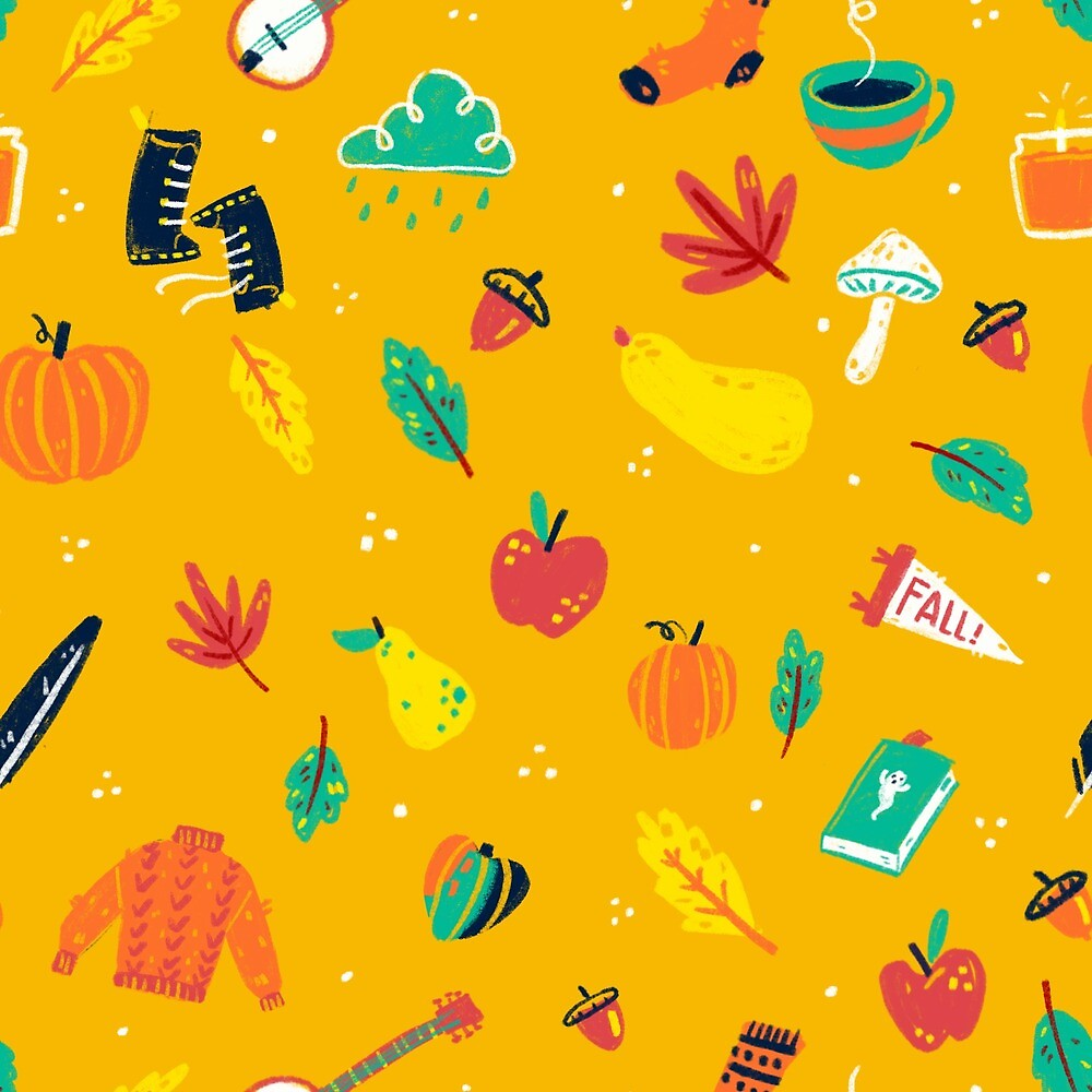 Autumn is my Happy Place Pattern by Ragonia