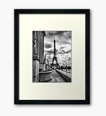 Eiffel Tower VI B&W Framed Print