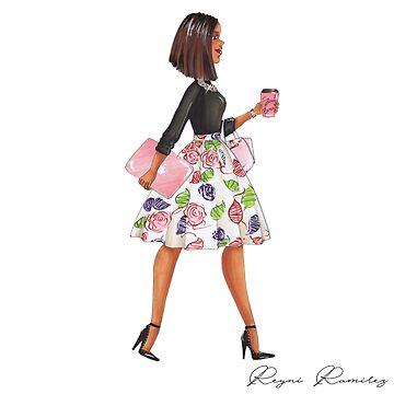 girl flower skirt by reyniramirezfi
