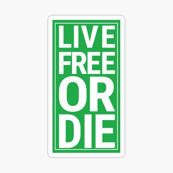 Live Free or Die RD sign Sticker