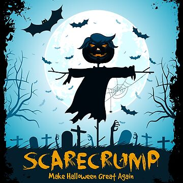 Halloween Scarecrump Funny Trump Design by -WaD-