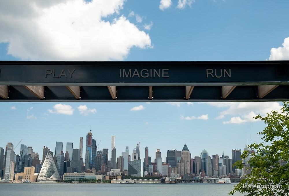 Inpirational street minimal photography, NYC skyline. by lentaurophoto