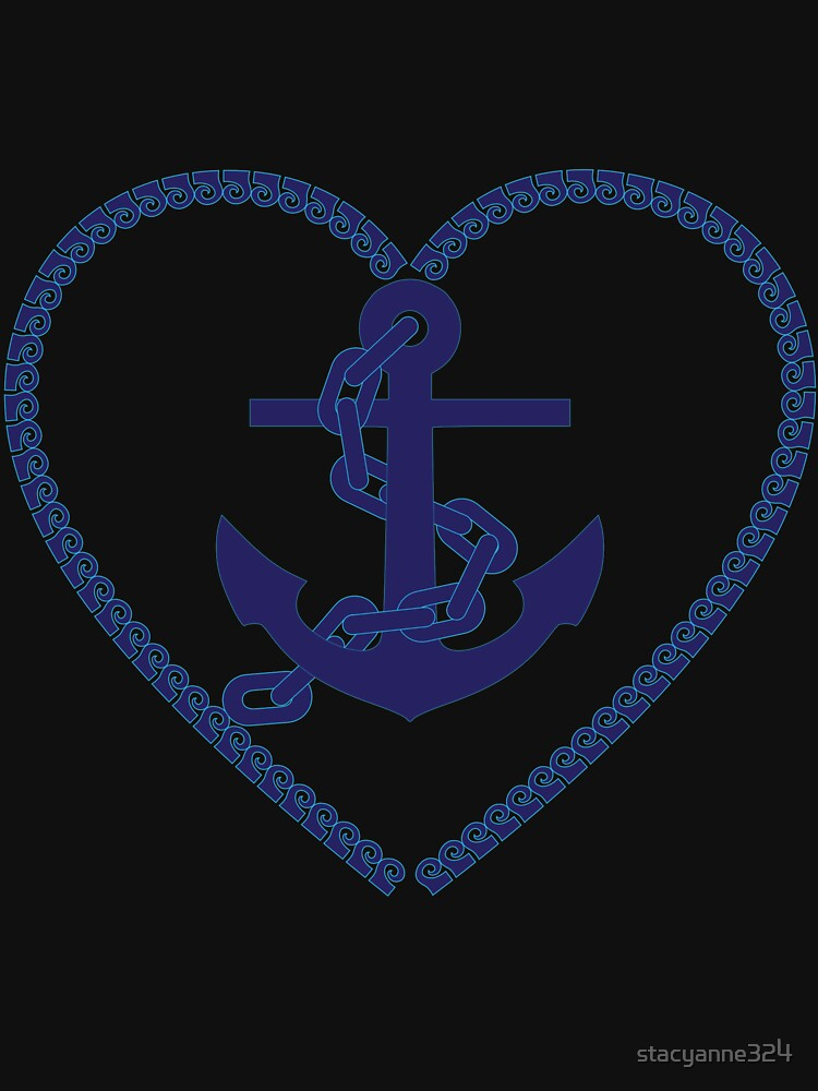 Nautical Anchor Heart Sailor Beach Sailing Gift by stacyanne324
