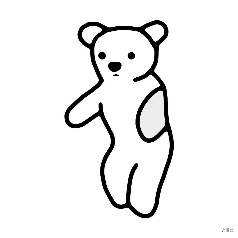 Sno1: White Teddy by Allitt