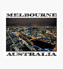 City Lights (poster on white) Photographic Print
