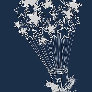 Star Flight With Cats by carissalapreal