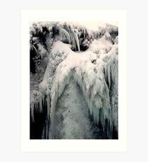 Ice wing Art Print