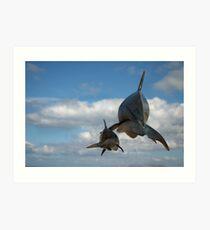 Vaquitas in the clouds Art Print