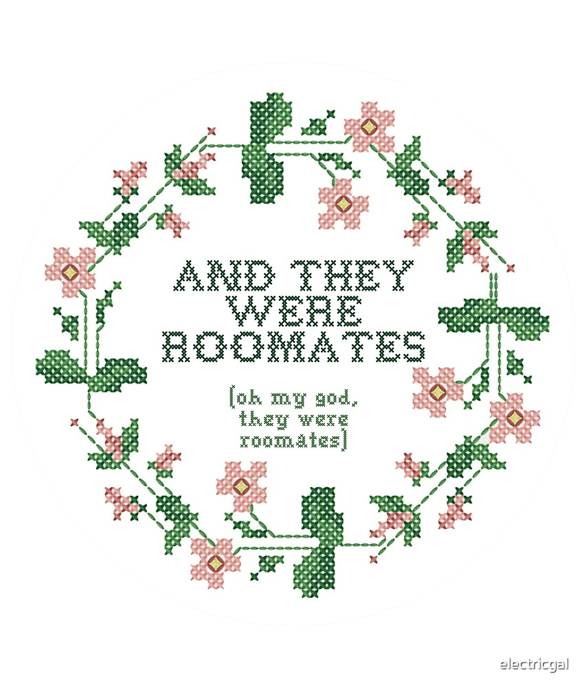 and they were roomates - vine quote cross stich by electricgal