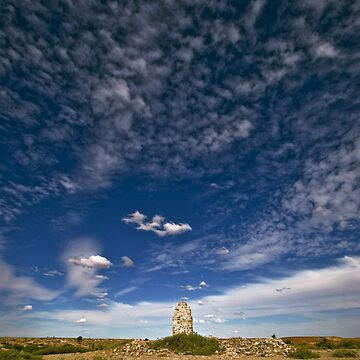 Chimney and Sky - Dalhousie Homestead Ruins - North South Australia by JaykAt