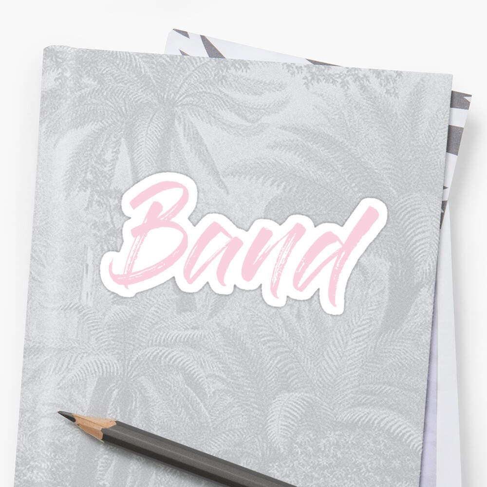 Band - Class Label in Pink by rracheell