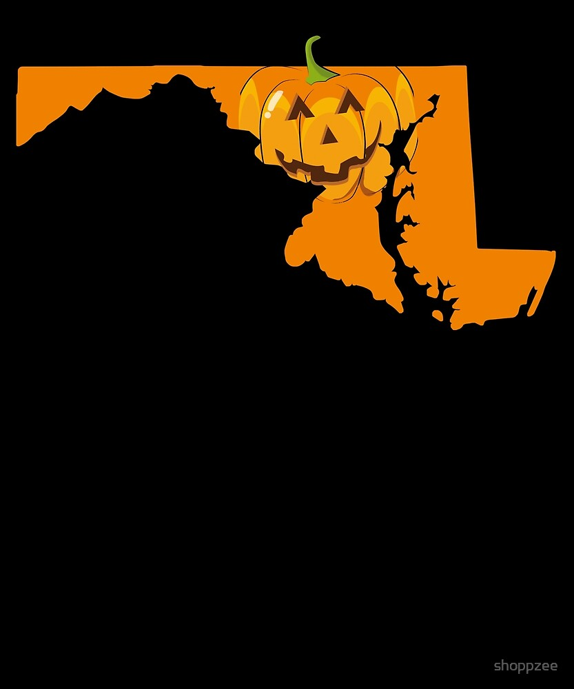 Halloween T Shirt Maryland Halloween Funny Shirt by shoppzee