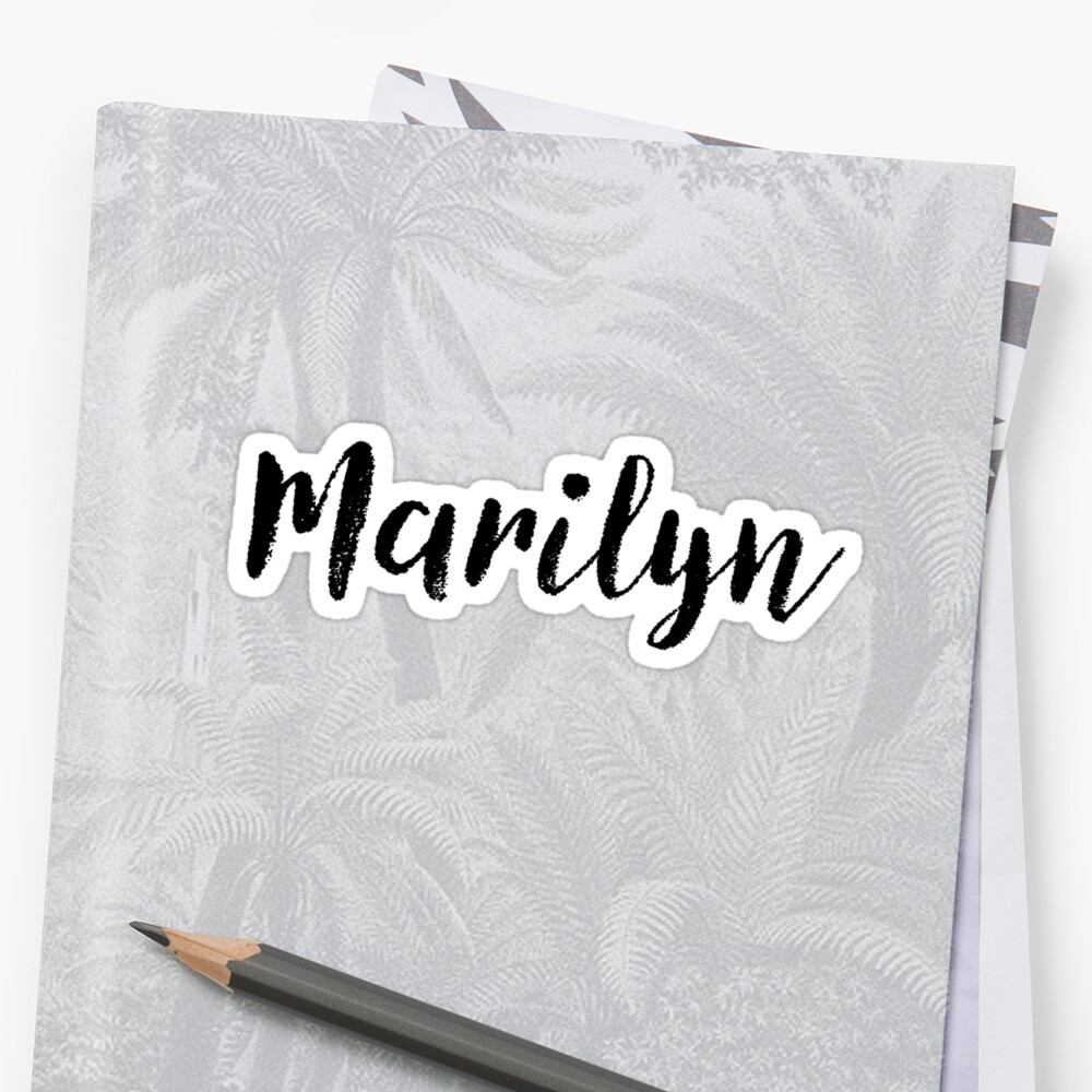 Marilyn - Girl Names For Wives Daughters Stickers Tees by klonetx