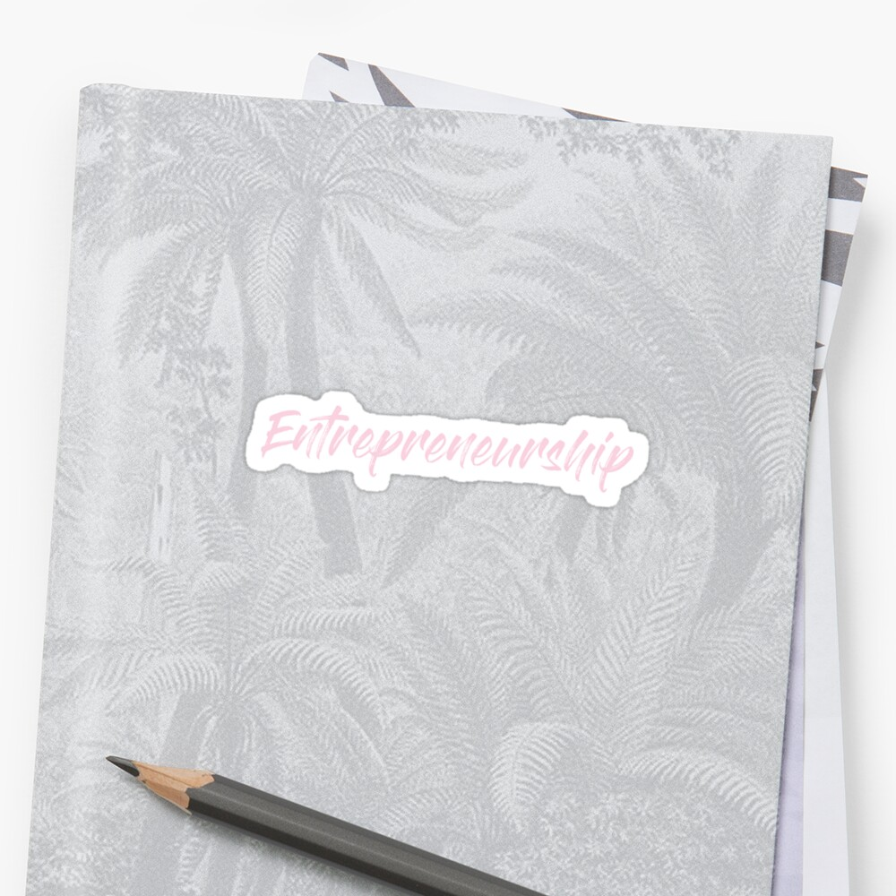 Entrepreneurship - Class Label in Pink by rracheell