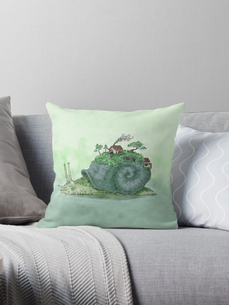 Watercolor Snail Home by artmango