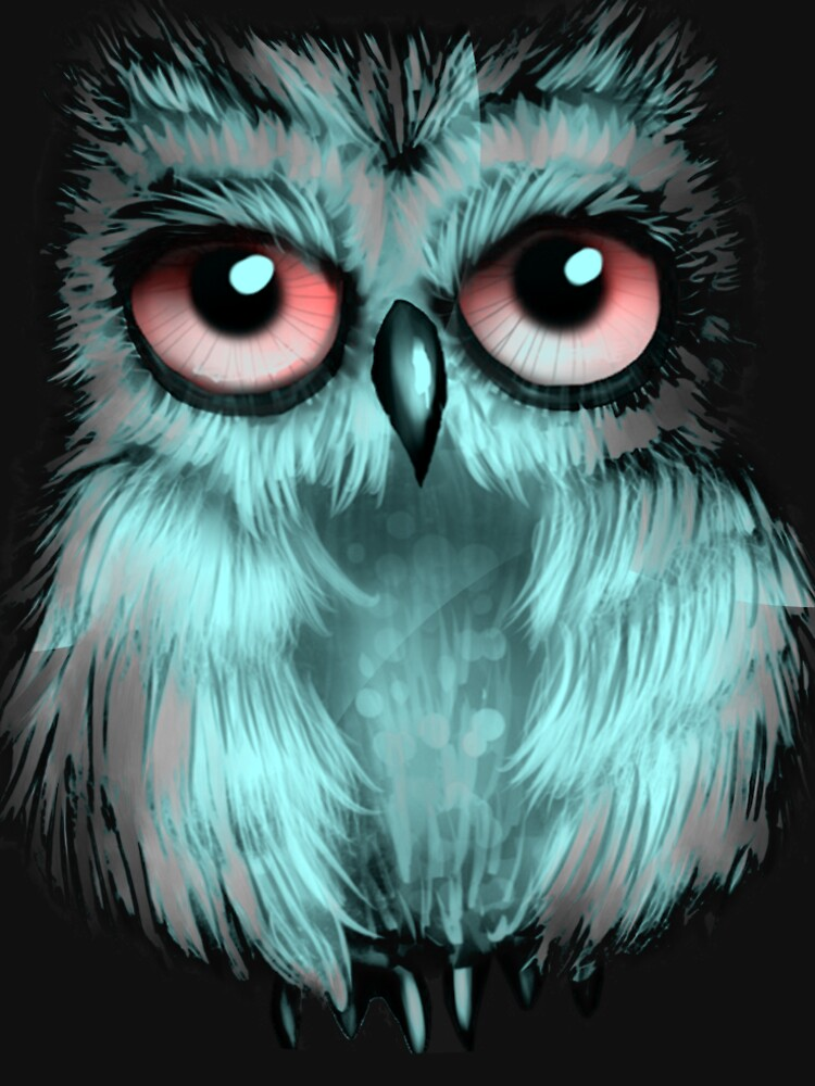 funny owl t-shirt  by bmh123