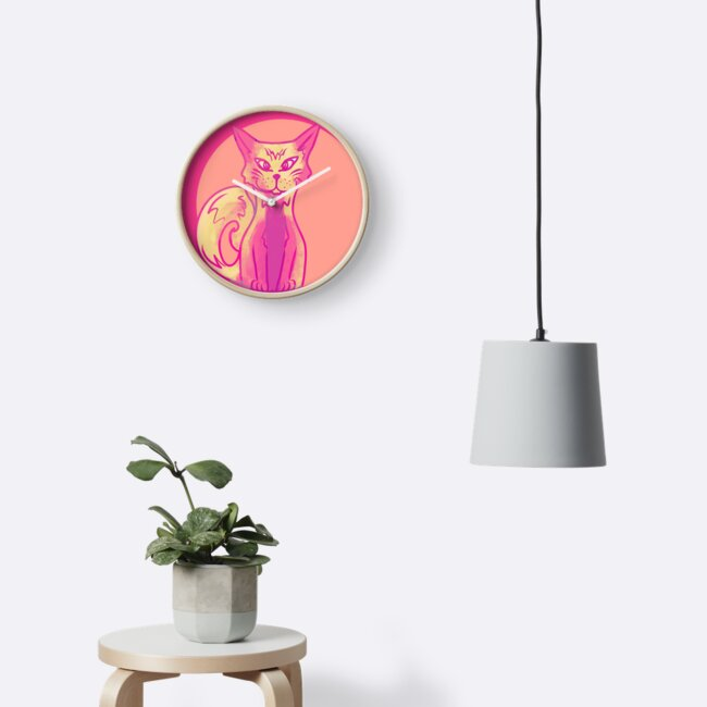 Pink cat medallion by nicaa