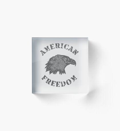 American Liberty Bald Eagle Acrylic Block