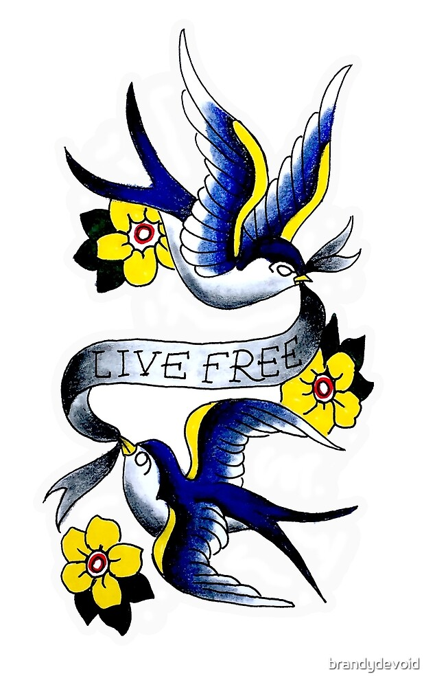 Live Free Blue Birds by brandydevoid
